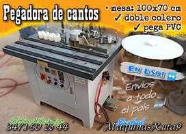 PEGADORA DE CANTOS (máquina carpintería fábrica mueble pejadora filos chapa)