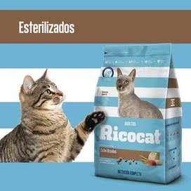 Ricocat Gatos adultos Esterilizados Bolsa de 9 Kg con DELIVERY GRATIS