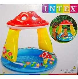 piscina inflable bebe hongo intex agua 1.02x89cm