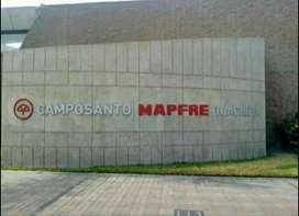 Oprtunidad de Inversión!! Sepultura/Tumba o Nicho Familiar Camposanto Mapfre Huachipa!!
