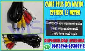 Cable Plug Rca Macho Estereo 1.5 Metro