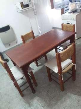 Juego de comedor mesa y sillas
