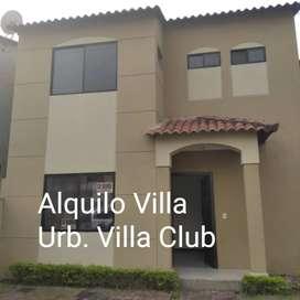 Alquilo Villa Urb Villa Club