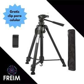 Tripode wf3520 1,40m de alto con estuche, clip para celular envio gratis