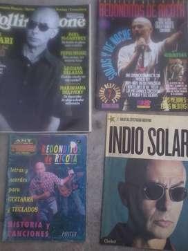 revistas y poster redondos indio solari