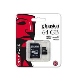 Memorias Sd Kingston Originales de 64gb