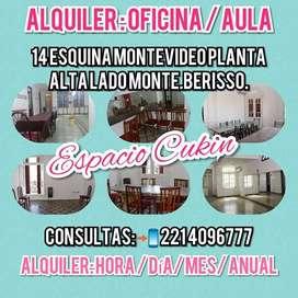 ALQUILER ESPACIO : OFICINA - AULA - CONSULTORIO  Servicios incluidos:  Aire acondicionado/ calefacción  Recepción  Excel