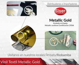 Vinil Textil Metallic Gold