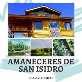 ALQUILO CABAÑA - FRENTE AL RIO CABAÑA DE TRONCO