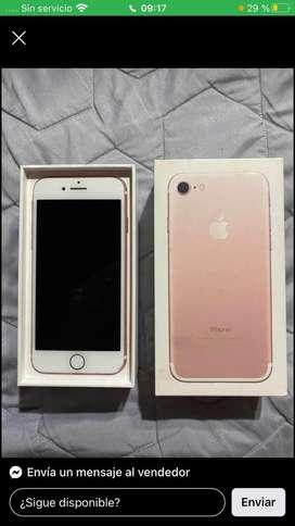 Vendo iphone 7 rosa gold de 128gb con la caja unico dueño