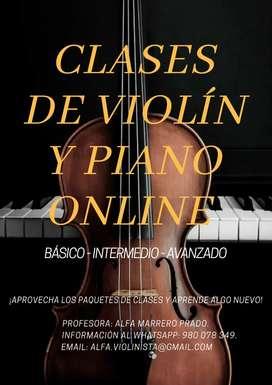 ¡Clases de Violín y Piano Online!