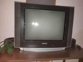 """Vendo TV Samsung 21"""" pantalla plana."""