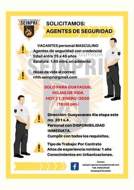 AGENTE DE SEGURIDAD, Guardia Urbanizaciones