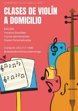 Clases de violin a domicilio Bucaramanga