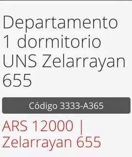 Departamento para alquiler en Bahía Blanca entre centro y universitario la menor zona