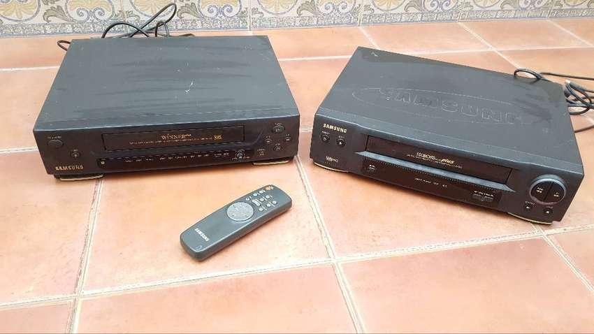 Videocasetera VHS Samsung (lote x 2)