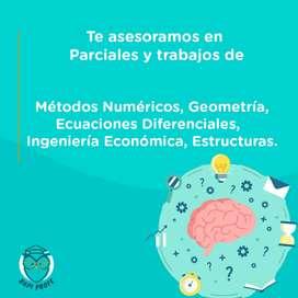 Asesoramos trabajos de metodos numericos, ecuaciones diferenciales, geometria, ingenieria economica, estructuras