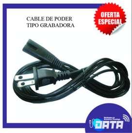 Cable de poder tipo grabadora 1.8 Metros