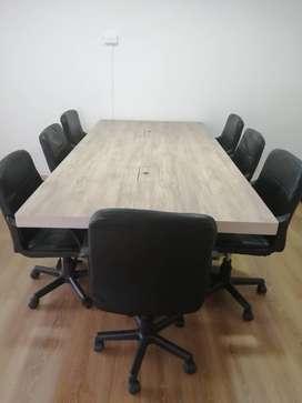 Mesas de juntas + sillas