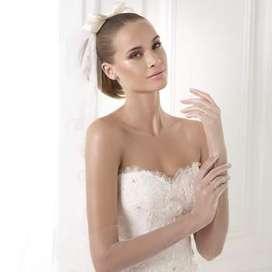 Vestido de novia blenda Pronovias