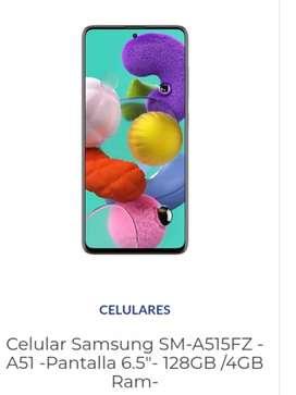 """Samsung Galaxy NUEVO A51 """"CONTADO"""""""