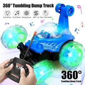 Carro Loco 360 mini coche de juguete stunt king control remoto - luces