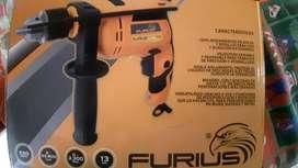 Taladro percutor marca furius 550w profesional nuevo