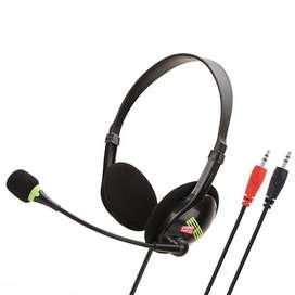 Diadema Para Computador Estereo Jd-440 Microfono Pc Chat