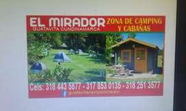 Se Alquila cabañas yZona de Camping en Guatavita