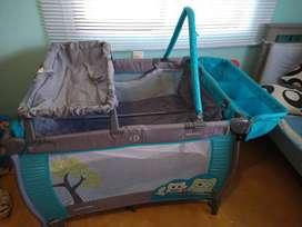 Cuna para bebe plegable