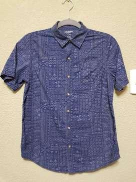 Camisa Niño Arizona azul estampado T.Large 14/15 . Usado