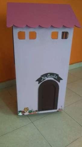 Hermosa casa de muñecas Con Rueditas