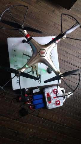 Dron syma x8hw con cámara 3 hélices 3 bacterias 2 cargadores