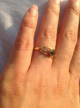 Vendo anillo  baño de oro 18 kl