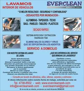 Limpieza interior de vehículos a domicilio