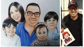 Para Papá, Retratos y Caricaturas