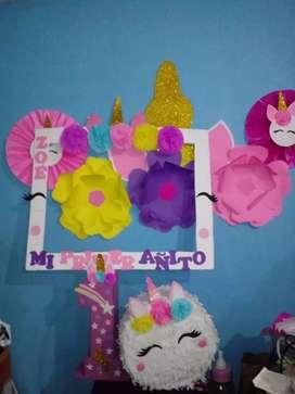 Vendo decoración de unicornio para cumple