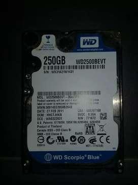 Disco duro 250 Gb para portatil