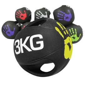 Balon Medicinal C/ Asa 3Kg - Gym