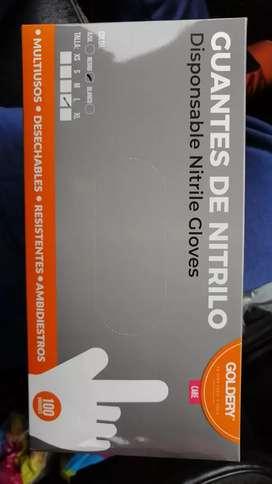 Guantes de Nitrilo por cajas de 100 unidades