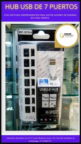 HUB USB 7 PUERTOS