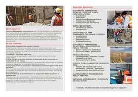 INGENIERIA ARQUITECTURA CONSTRUCCION PLANOS PROYECTOS EXPEDIENTES TECNICOS TOPOGRAFIA LABORATORIO SUELOS CONCRETO