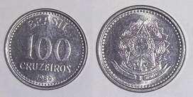 Moneda Antigua Brasil 100 CRUZEIROS DE 1986