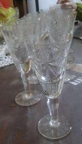 12 Copas de cristal para licor 0