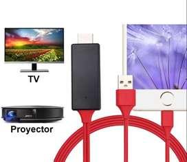 Cable iPhone iPad A Hdmi Mhl Conectar Celular A Tv Proyector