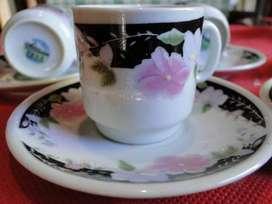 JUEGO DE CAFÉ CHINO 12 PIEZAS: 6 POCILLOS, 6 PLATOS