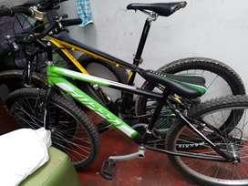 Vendo bicicleta zupra semi nueva 2 usadas