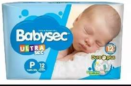 Pañales Babysec Ultraprotect Talle P