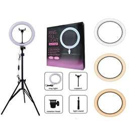 Aro Luz Led Para Fotografia Y Video 26 Cm Con Tripode 2.10 M