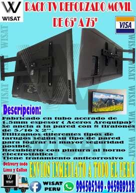 Rack Tv Móvil 60 Hasta 75 + instalacion Costo: 200 Soles